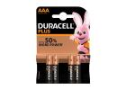 Duracell Plus  Batteries Power AAA x4 Pieces