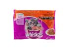 Whiskas Junior Pouch Cat Food in Gravy Meat Selection 4X100 g