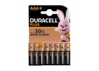 Duracell Plus Power Batteries AAA 8 Pieces