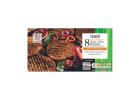 Tesco 8 Frozen Meat Free Style Burgers with Soya 454 g