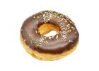Coffee Donut Ring with Sprinkles